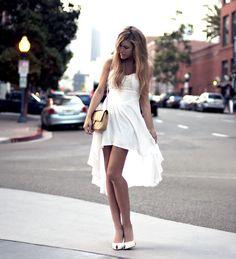 Summer Love (by Jennifer Grace) 720Four White Dress, Vintage Chanel Bag, White Christian Louboutin pumps