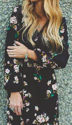 #street #style / floral print maxi dress...
