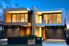 M Cubed Architects - Sydney Duplexes, Designer Houses, Townhouses - Sutherland Shire, Georges River, Bayside 2 Storey House Design, Duplex House Design, Apartment Design, Modern Townhouse, Townhouse Designs, House Design Drawing, Facade House, House Facades, Architects Sydney