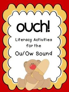 OU OW Diphthongs Bandage Word Sort FirstGradeFacultycom