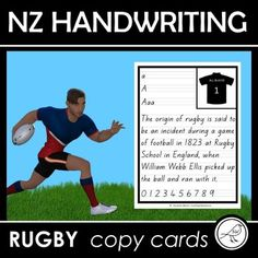 New Zealand Handwriting - RUGBY copy cards School Resources, Classroom Resources, Teaching Resources, Teaching Kids, Kids Learning, Rugby School, Teaching Handwriting, Ministry Of Education, Thing 1