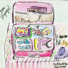 La maleta para el viaje jijiji :D