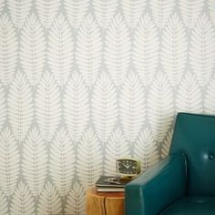 Chasing Paper Removable Wallpaper Panels – Fern (Gray) #west elm