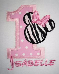 1st birthday hats custom | images of minnie mouse zebra face number hot pink and black quick ship ...