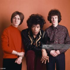 The Jimi Hendrix Experience, London, Spring 1967. Left to right: drummer Mitch Mitchell (1940 - 2008), guitarist Jimi Hendrix (1942 - 1970) and bassist Noel Redding (1945 - 2003).