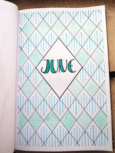 I know, I know, June is almost over. The summer is just getting started though, ugh 🥵 Maybe I chose a fresh turquoise for this month's bujo pages to fight the heat? Bullet Journal Title Page, Bullet Journal June, Bullet Journal Lettering Ideas, Bullet Journal Banner, Bullet Journal Notebook, Bullet Journal School, Bullet Journal Aesthetic, Journal Pages, Journal Covers