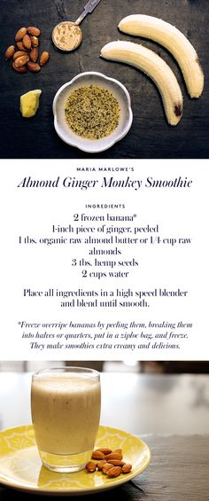We've started making smoothies in the morning for a fun, easy breakfast (they're also healthy—Shh… don't tell Arabel...