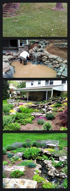 Transforming a hillside in a waterfall oasis https://thegardendiaries.wordpress.com/2015/01/20/best-of-houzz-2015/