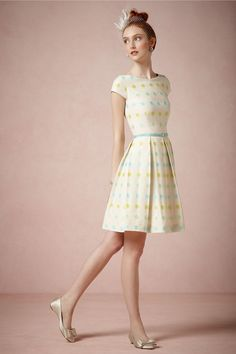 @Candice Cheung Prolly wont go with Graces look but sooo cute for a wedding! Tons of cute dresses here! Candy Dot Dress from BHLDN