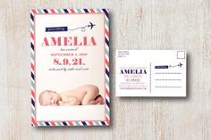 Special Delivery Baby Announcement by SimpleSimonDesign on Etsy, $15.00