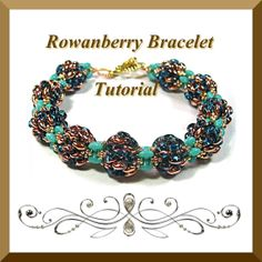 Pdf Tutorial Rowanberry Bracelet with Super Duo Beads by CTBeading.