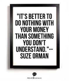 Be smart with your money