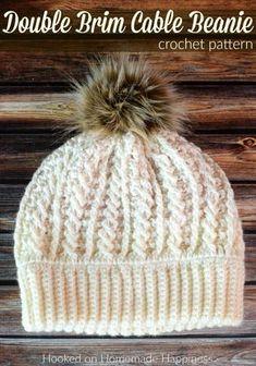 Crochet Beanie Hat Free Pattern, Crochet Adult Hat, Crochet Patterns, Crochet Hats, Hat Patterns, Crochet Dolls, Crochet Ideas, Crochet Winter Hats, Picot Crochet