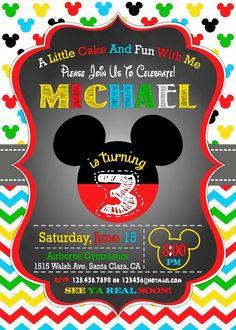 Mickey Mouse Birthday Invitation 3rd