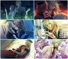 Heroine, Ukyo, couple, holding, hugging, kissing, smiling, cute; Amnesia Memories