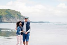 Wild & Grace. Boutique Wedding Photography Auckland, New Zealand and Worldwide | Windy Muriwai Beach Engagement Session by Wild&Grace Photography