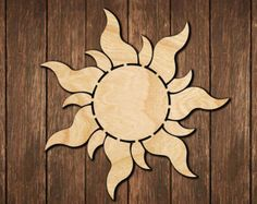 Tangled Rapunzel Sun wall sign / inspired by Disney park / logo Wooden Cutout Room Decoration / wood hanging gift birch art decor / decal