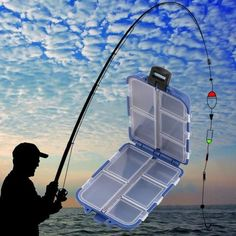 Boat/Raft Rod, No, Ocean Boat Fishing, Other, 10 Compartments Fishing Tackle Box Fly Fishing Lure Spoon Hook Bait Tackle Case Box Fishing Accessories Tools Drop Shipping Fly Fishing Lures, Fishing Tackle Box, Bait And Tackle, Carp Fishing, Best Fishing, Fishing Tips, Spoon Hooks, Fishing Storage, Fish Model