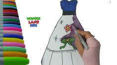 Pretty Dresses Coloring Page Painting - Beatifull Dresses coloring for K...