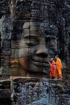Bayon Temple, Ancient City of Angkor Thom, Cambodi. - Bayon Temple, Ancient City of Angkor Thom, Cambodi… – - Ancient Aliens, Angkor Wat Cambodia, Religion, Buddha Zen, Buddha Buddhism, Buddha Peace, Buddha Meditation, Little Buddha, Cambodia Travel
