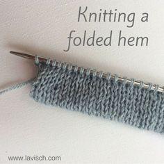 Knitting a folded hem - a tutorial by La Visch Designs