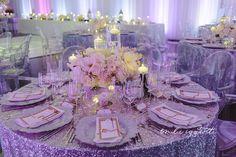 Gatsby wedding Sequins tablecloths Winter wedding  candles Romantic  Silver wedding  Photographer: Emilie Iggiotti
