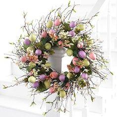 "Easter Wreath - Easter Egg Wreath - 22"" Wreath"