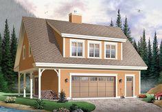 House Plan - garage house for mom Garage Loft, Garage House, Plan Garage, Two Story Garage, Garage Office, Small Garage, Attic Office, Attic Closet, Closet Space