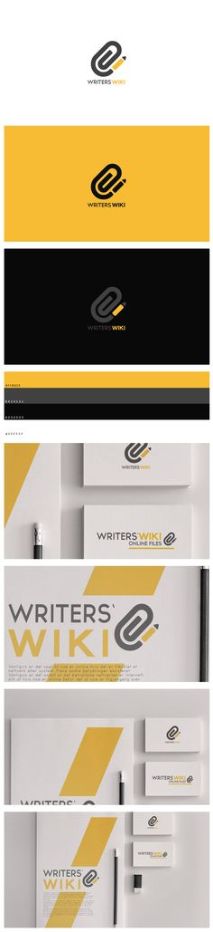 Writers' Wiki by Jørgen Grotdal, via Behance || Introducing Moire Studios a thriving website and graphic design studio. Feel Free to Follow us @moirestudiosjkt to see more amazing pins like this. Or visit our website www.moirestudiosjkt.com to know more about us. #brandIdentityDesign #corporateDesign #logoDesign ||