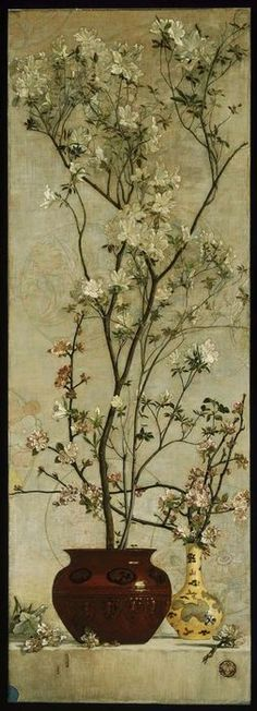 Charles Caryl Coleman. Still Life with Azaleas and Apple Blossoms, 1878