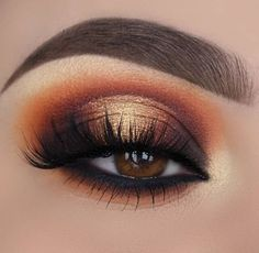 52 Best Gold Eye Makeup Looks and Tutori. - Best Gold Eye Makeup Looks and Tutorials,gold makeup looks black girl,natural makeup looks,natural - Gold Makeup Looks, Gold Eye Makeup, Eye Makeup Brushes, Eye Makeup Tips, Smokey Eye Makeup, Makeup Ideas, Makeup Tutorials, Smoky Eye, Makeup Inspo