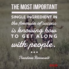 """How well do you get along with others? Dale Carnegie wrote a whole book on the subject, """"How to Win Friends and Influence People."""" #success #influencer #mindset #life #friendly #kindness #compassion #theodoreroosevelt #quotes"""