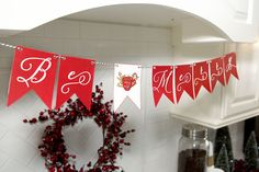 Holiday Party Free Printables Hot Cocoa and Coffee Bar   Be Merry Banner