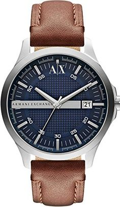 Armani Exchange AX2133 Mens Hampton Brown Leather Strap Watch Armani Exchange http://www.amazon.com/dp/B00I70AOO2/ref=cm_sw_r_pi_dp_0zVOvb086EBSP