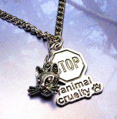 Stop animal cruelty pendant; definitely something I'd wear.