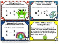 FREE Download Fraction Task Cards for 5th Grade Common Core Math Activities: You will receive eight printable task cards to use as a math review, test prep or quick formative assessment. Task cards are a great alternative to worksheets. Students may play SCOOT, have a scavenger hunt or play other math center games. Try the sampler for free. A student response form and answer key are also provided.