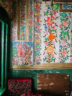 bohemianhomes:  Bohemian Homes: Hand Painted Indian Botanical Wall paper