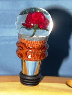beautiful flower which I've encased in acrylic