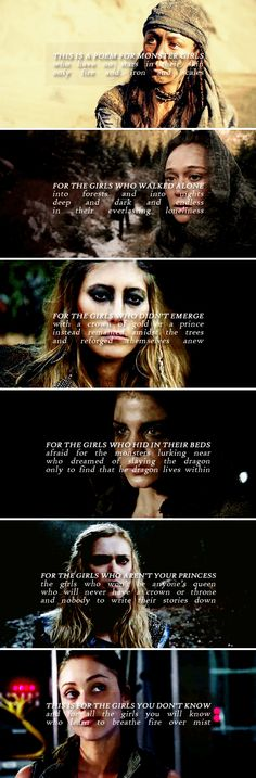 for the girls the fairytales abandoned. - m.l. #the100