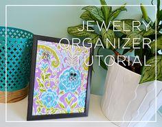 No SEW DIY jewelry organizer video tutorial on Crafty Gemini Creates.