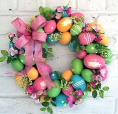 Say Happy Easter and Welcome Spring with these gorgeous DIY Easter Wreaths and Door Decorations! Easter Wreaths, Holiday Wreaths, Holiday Crafts, Holiday Fun, Spring Wreaths, Easter Projects, Easter Crafts, Easter Decor, Easter Ideas