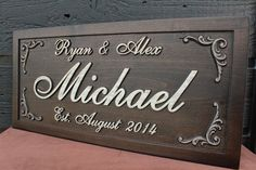 Anniversary Gift First and Last Name Sign by SmokyMountainSigns, $64.99