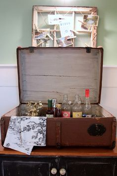 Sara BatesSave to IdeabookEmail Photo You have: A vintage suitcase Make: A pop-up bar  This could be fun for your next party — or, when packed and closed up, it could also make a clever gift for your favorite cocktail connoisseur. Fill a vintage suitcase with a few top-shelf bottles of booze and fancy flavorings, pretty cocktail napkins or tea towels and some cool bar tools.