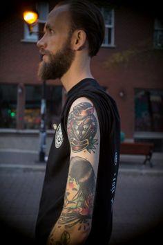 Inked man from Montreal: MEKA ©TheTattoorialist Photo by Nicolas Brulez aka The Tattoorialist
