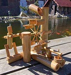 Wilai Bambus-Wasserspiel: Amazon.de: Spielzeug Indoor Water Features, Water Features In The Garden, Kids Backyard Playground, Backyard For Kids, Bamboo Art, Bamboo Crafts, Bamboo Fountain, Diy Water Feature, Water Walls