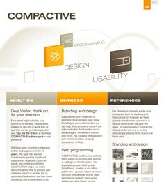 Compactive.com design and all references on subpages.