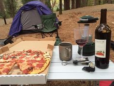 Car camping at its finest, hot pizza and local wine, Inn Town Campground, downtown Nevada City, opening summer 2016.