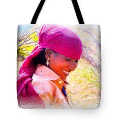 "Smile Harvest India Rajasthan Tote Bag 18"" x 18"""