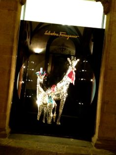 Salvatore #Ferragamo shop in #Florence for #Christmas!
