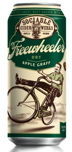 Not a beer, but still delicious. Brewed in NE Minneapolis. Sociable Cider Werks Freewheeler Dry Apple Graff
